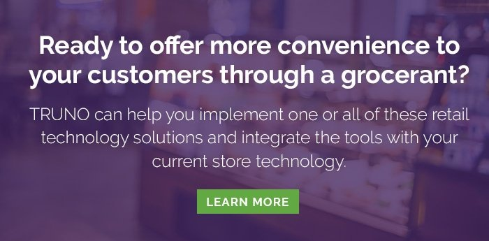 Ready to offer more convenience to your customers   through a grocerant? TRUNO can help you implement   one or all of these retail technology solutions   and integrate the tools with your current store technology.   Learn More <>
