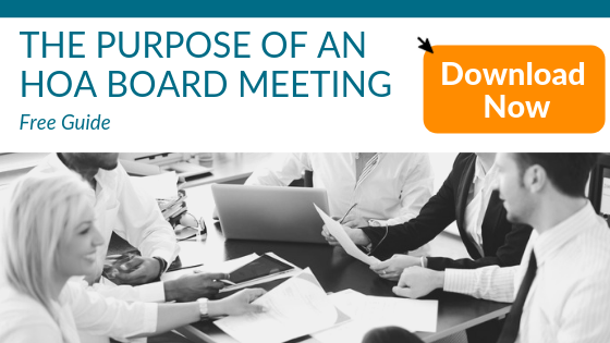 Purpose of an HOA Board Meeting Access
