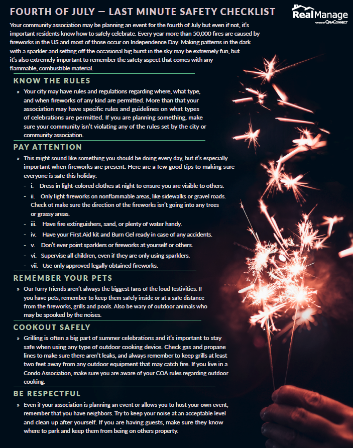 Fourth of July - Independence Day Safety Checklist