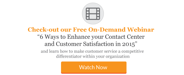 6 Ways to Enhance your Contact Center And Customer Satisfaction in 2015