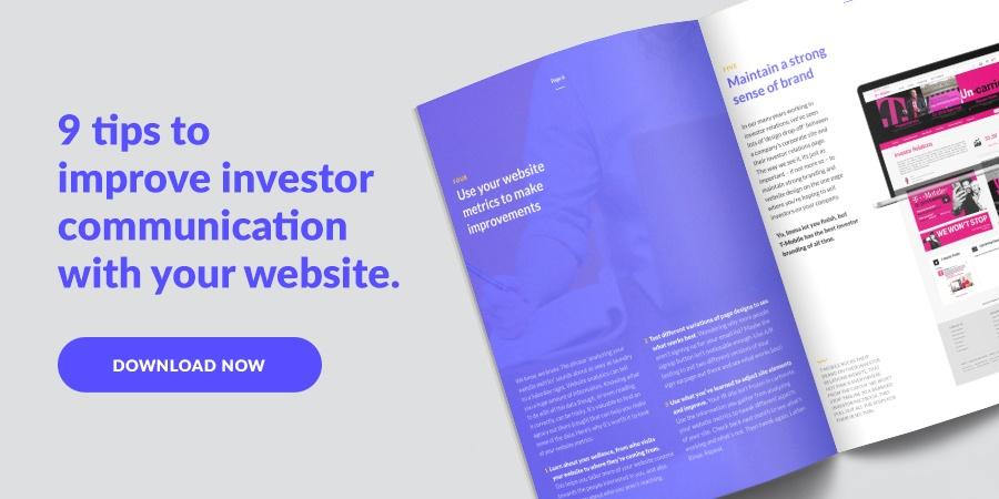 9 tips to improve investor communication with your website