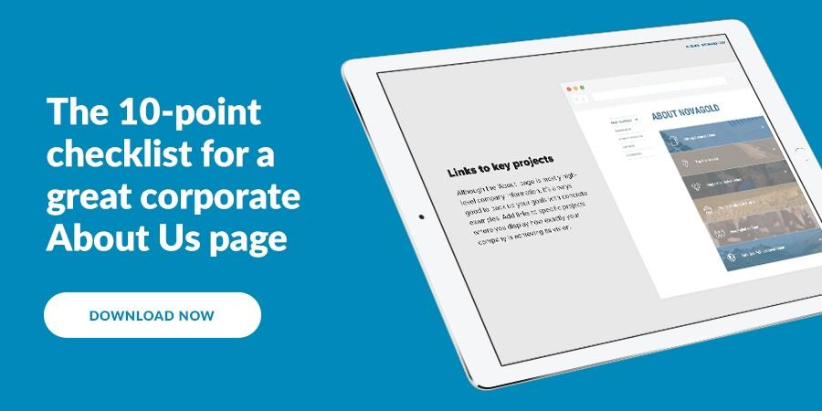 The 10 point checklist for a great corporate About Us page
