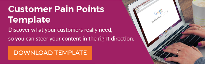Customer Pain Points Template