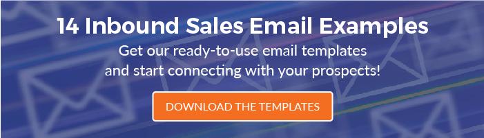 Get 14 Inbound Sales Email Templates