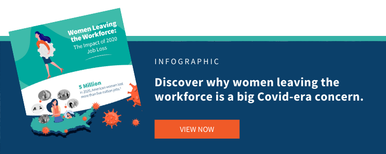 Women Leaving Workforce Infographic, IMPACT Group
