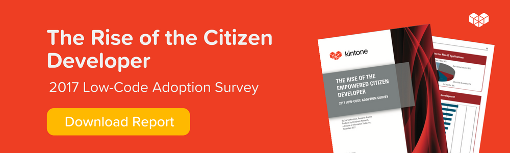 citizen developer report