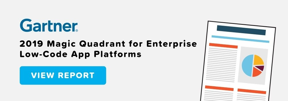 Gartner Magic Quadrant Enterprise Low-Code App Platform Report
