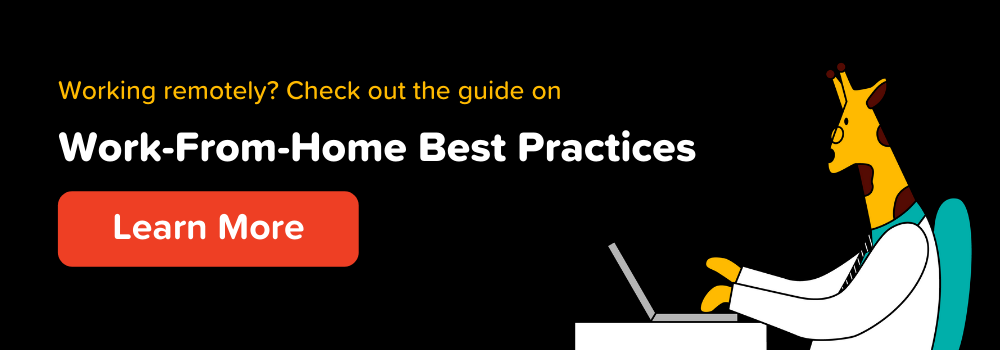 Work from home best practices CTA