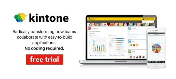 Start a free kintone trial now and build your first business app