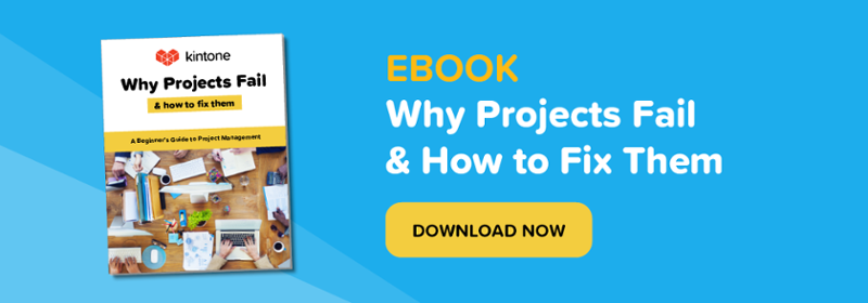 Kintone eBook: Why Projects Fail