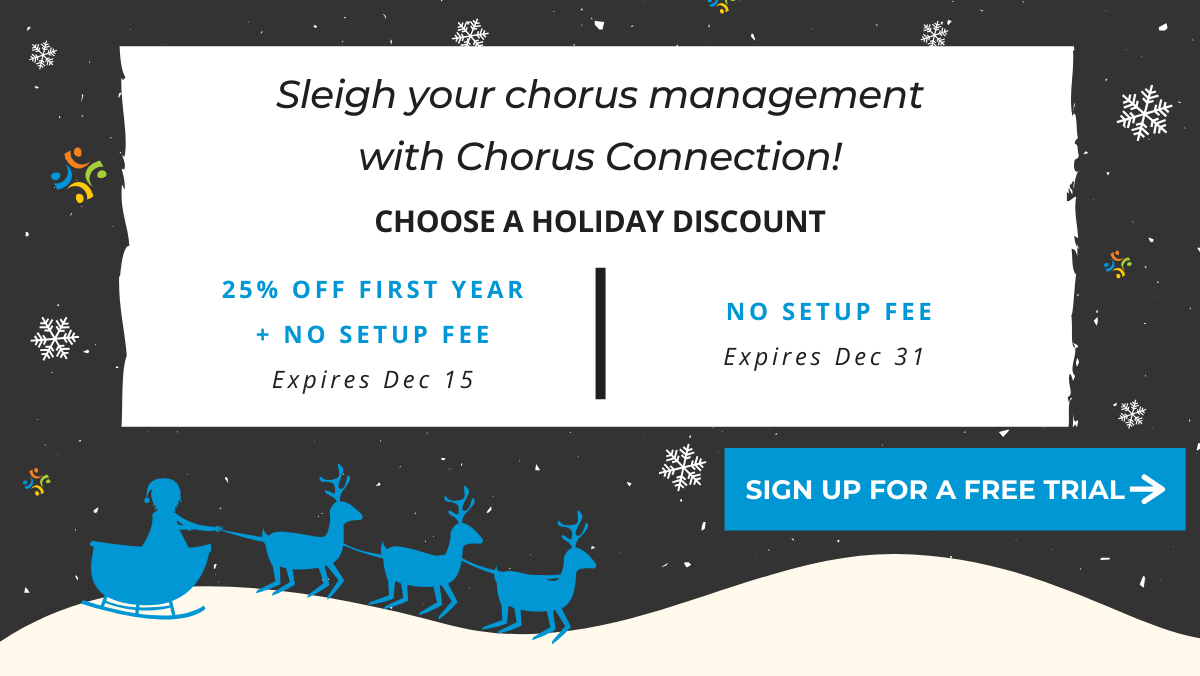 Chorus Connection holiday discount offer