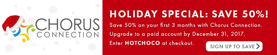 Holiday Discount Chorus Connection