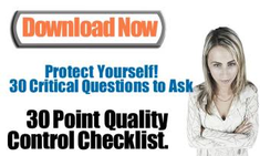 30 Point Quality Control Checklist - Here are 30 critical questions you need to ask