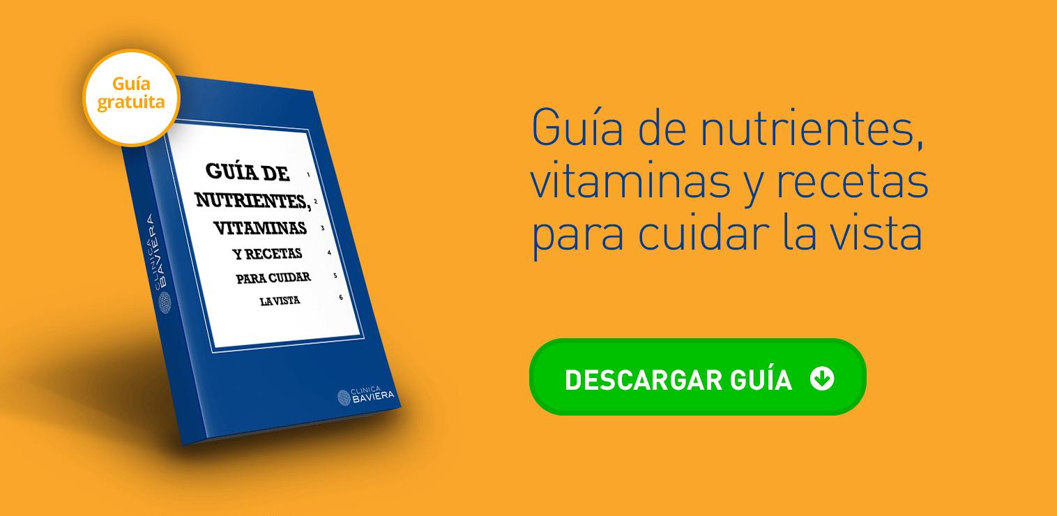 Guía de nutrientes, vitaminas y recetas para cuidar la vista