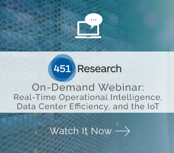 Watch On-Demand Webinar Real-Time Operational Intelligence, Data Center Efficiency, and the Internet of Things