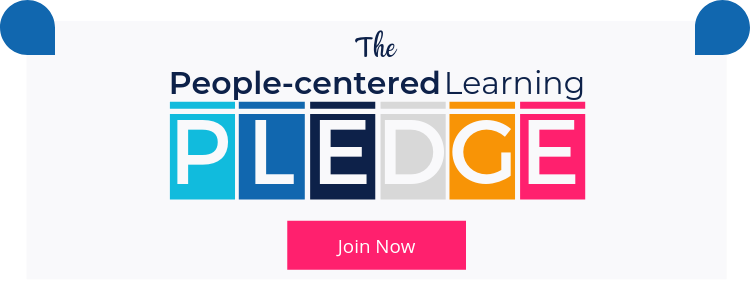 join the people centered learning pledge