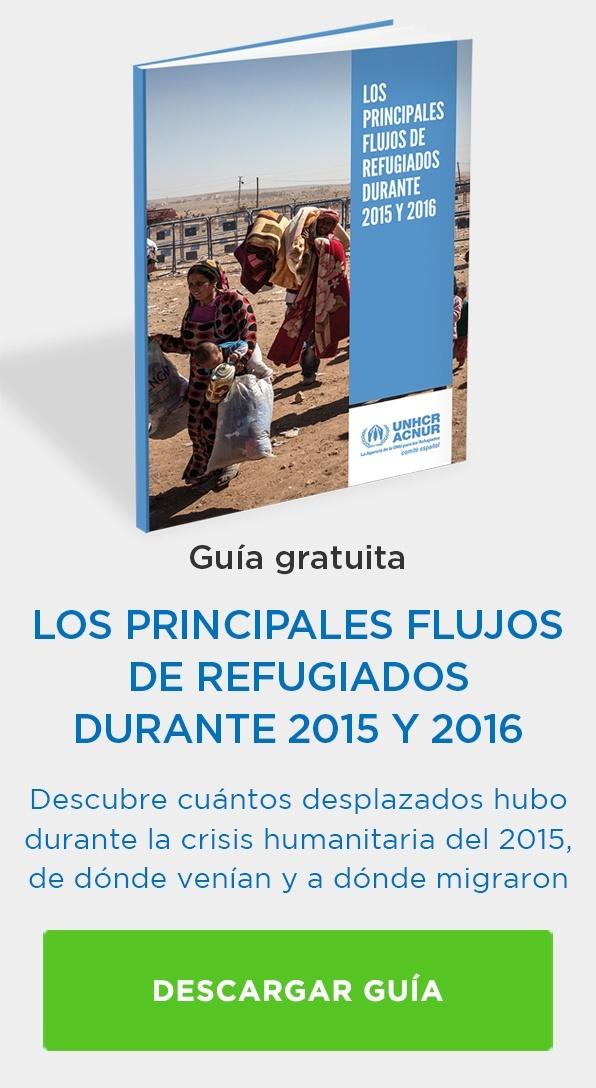 Guía flujos de los refugiados durante 2015 y 2016