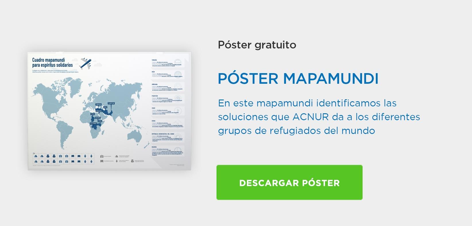 Póstergratis'Cuadro mapamundi para espíritus solidarios' [Descarga gratis el póster con el mapamundi y cuélgalo a tu pared]