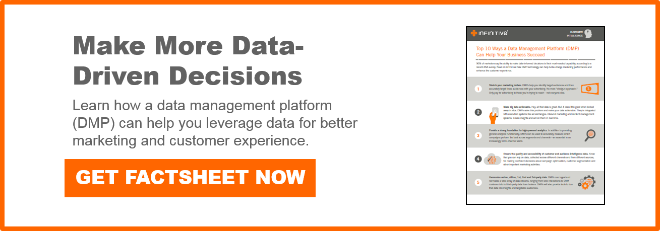 Download free factsheet for 10 ways DMP can help you make more data-driven marketing decisions