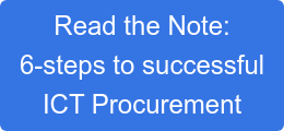 Read the Note: 6-steps to successful ICT Procurement
