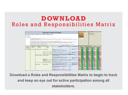 VDC Roles and Responsibilities Matrix