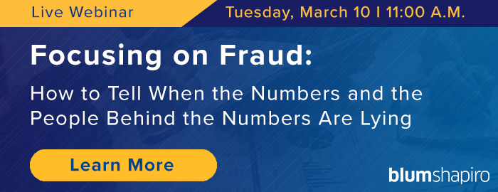 Focusing on Fraud Webinar