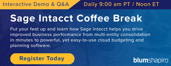 Sage intacct Live Demo Register