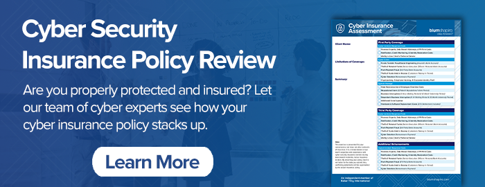 Cyber Insurance Policy Review