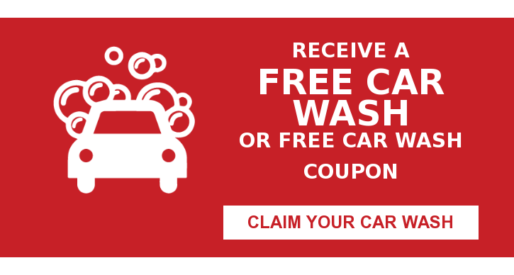 Receive a Free Car Wash or free car wash coupon Claim Your Car Wash