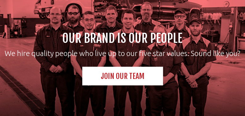 Our brand is our people  We hire quality people who live up to our five star values. Sound like you? Join Our Team