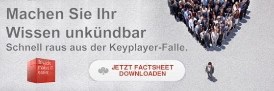 Schnell raus aus der Keyplayerfalle.