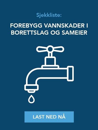 Last ned sjekkliste: Forebygg vannskader i borettslag og sameier