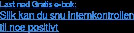 Last ned Gratis e-bok: Slik kan du snu internkontrollen til noe positivt