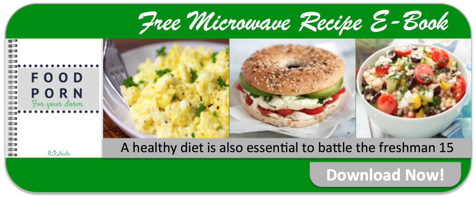 Download the free dorm recipe e-book