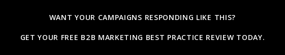 Want yourcampaigns responding like this?    Get your free B2B Marketing Best Practice Review today.