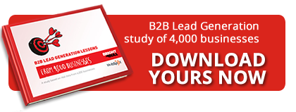 B2B lead generation study of 4000 businesses