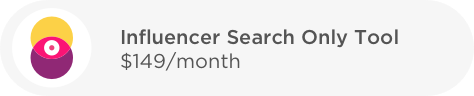 influencer search only tool