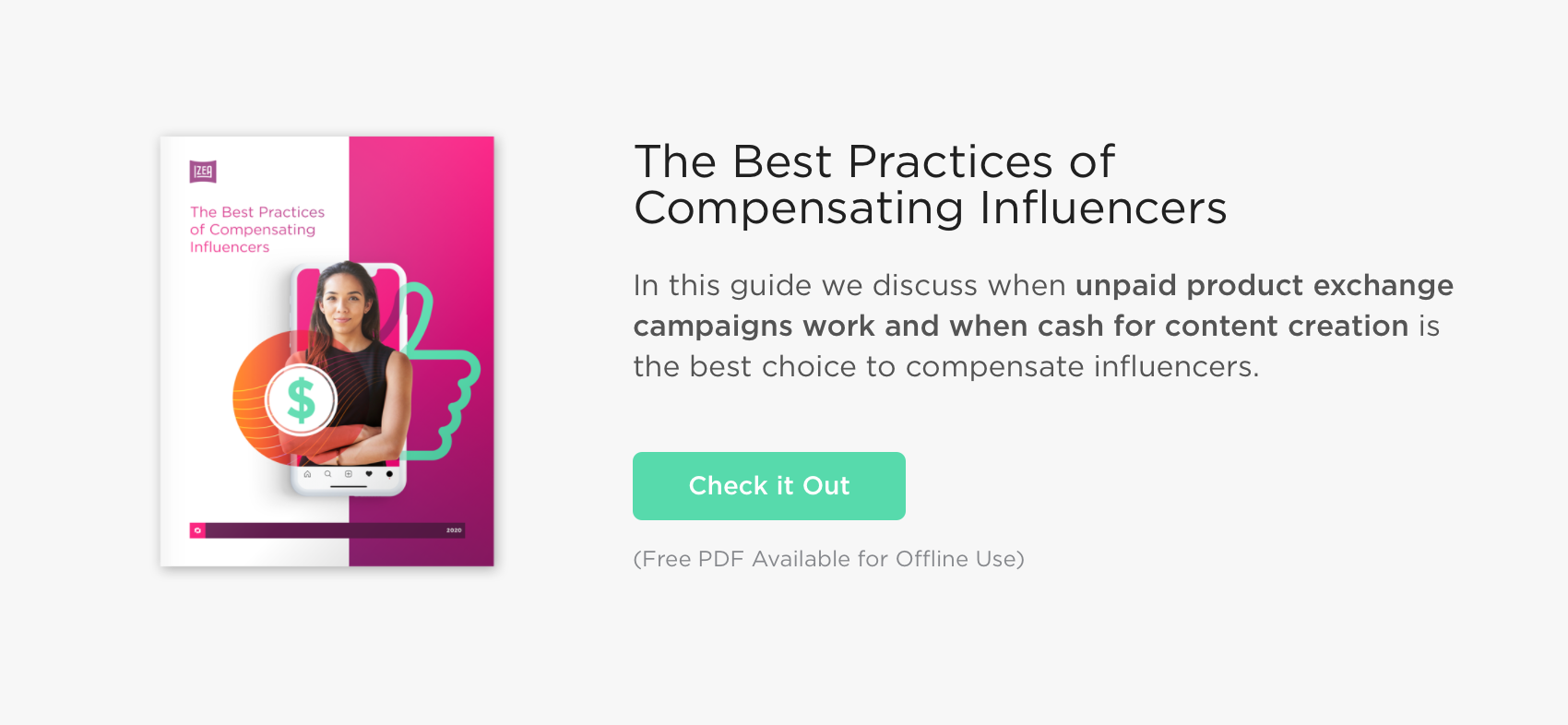The Best Practices of Compensating Influencers