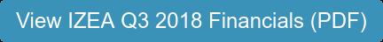 View IZEA Q3 2018 Financials (PDF)
