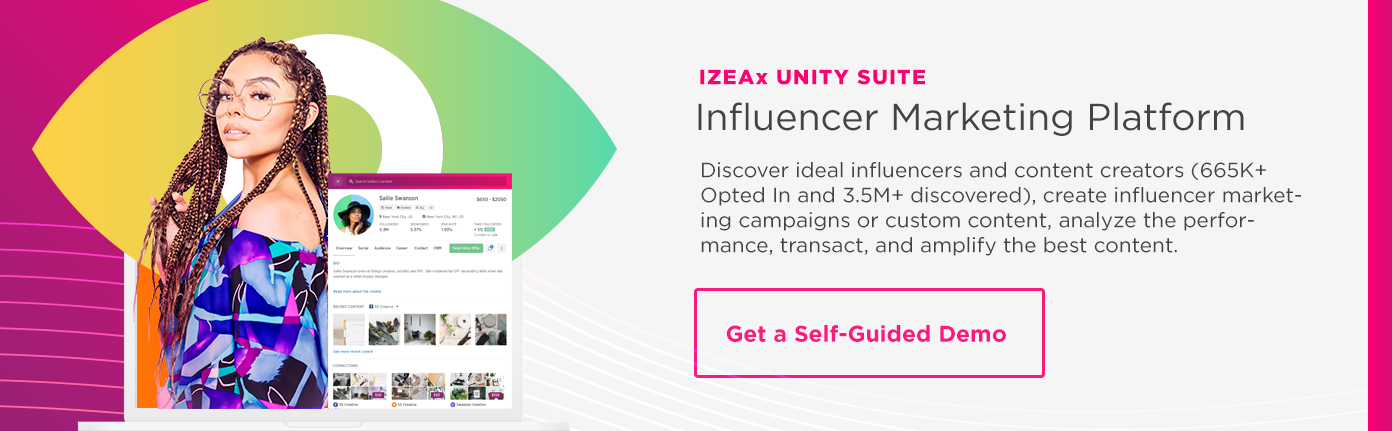IZEAx Self Guide Demo