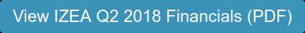 View IZEA Q2 2018 Financials (PDF)