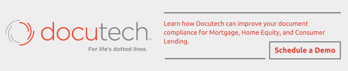 Schedule a Demo to learn how Docutech can improve your mortgage document compliance