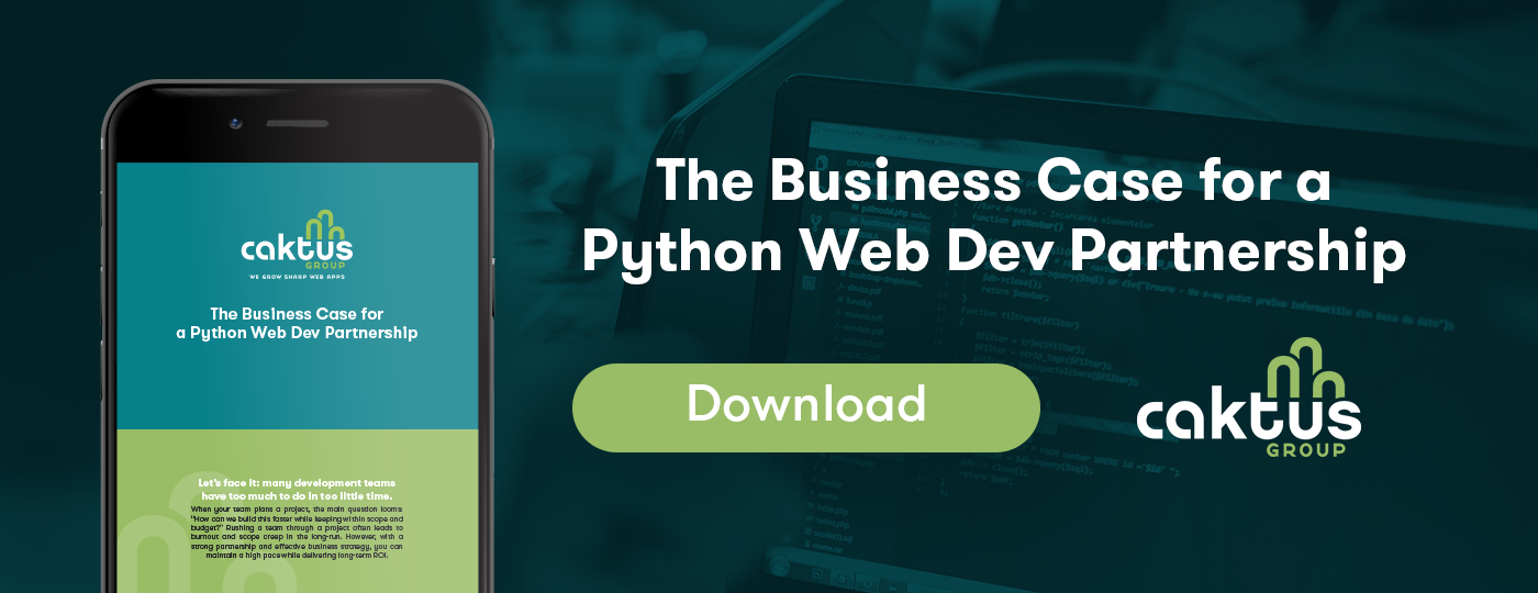 Download The Business Case for a Python Web Dev Partnership