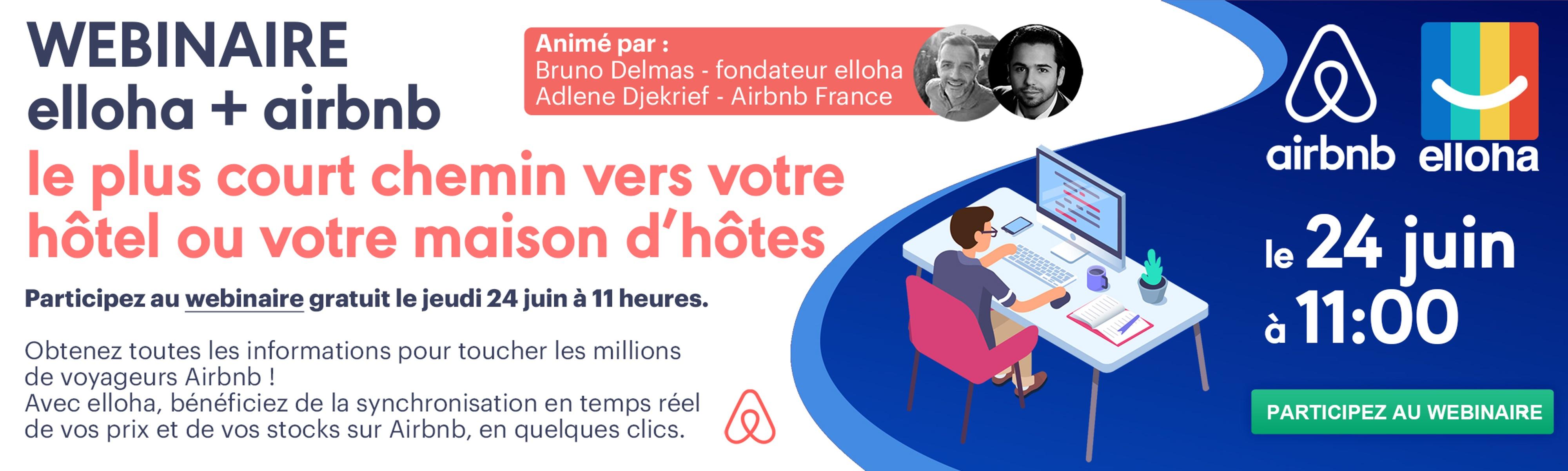 Participez au webinaire elloha + Airbnb le 24 juin à 11h