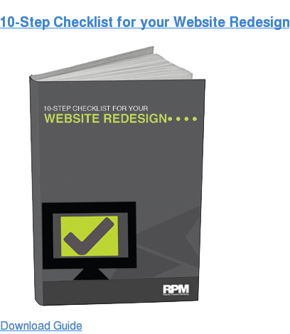 10-Step Checklist for your Website Redesign Download Guide