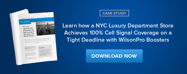 Learn how a NYC Luxury Department Store Achieves 100% Cell Signal Coverage