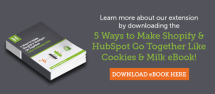 Down 5 Ways to Make Shopify & HubSpot Go Together Like Cookies & Milk Ebook