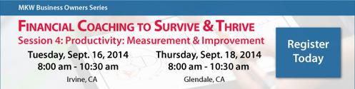 Financial Coaching - Productivity: Measurement & Improvement