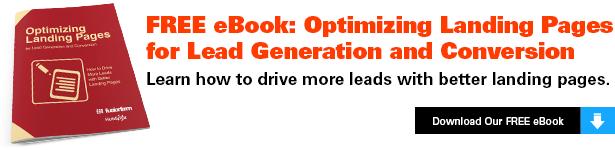 Optimizing Landing Pages ebook