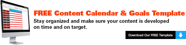 content blogging calendar template